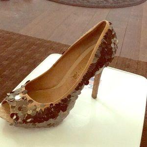 Sequined lamp high heel